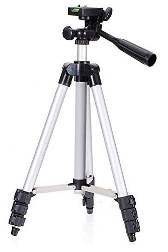 Aerizo GP-46 Portable & Adjustable Tripod Stand Holder for Best Photography & Videography Compatible with All Type of Smart Phones & Camera (Random Colour)