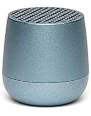 Lexon MINO + Portable Bluetooth Speaker - 3W - Charge with USB-C or QI Wireless - Hands Free Call - Selfie Control - Light Blue