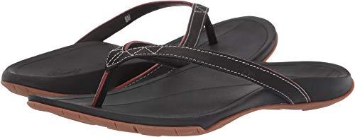 Chaco Biza Flip Flop - Women's Black, 8.0 (Chaco Womens Leather Flip Sandal)