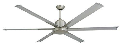 Large Fan Blades : Troposair titan brushed nickel large industrial ceiling