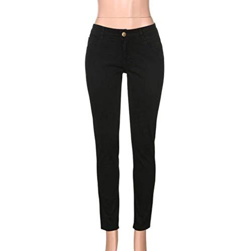 Da Pantaloni Estilo Skinny In Especial Jeans Nero Uomo Aderenti Holes Denim Slim Elasticizzati Casual Lunghi Estivi Fit Casuali rEAqUzwE
