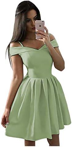 귀여운 심플한 오프 숄더 새틴 홈커밍 드레스 짧은 프롬 파티 드레스 주머니 포함 2019 B049 / 귀여운 심플한 오프 숄더 새틴 홈커밍 드레스 짧은 프롬 파티 드레스 주머니 포함 2019 B049