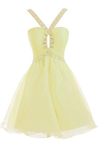 Vimans Para Mujer Trapecio Amarillo Vestido Hwqr8HC