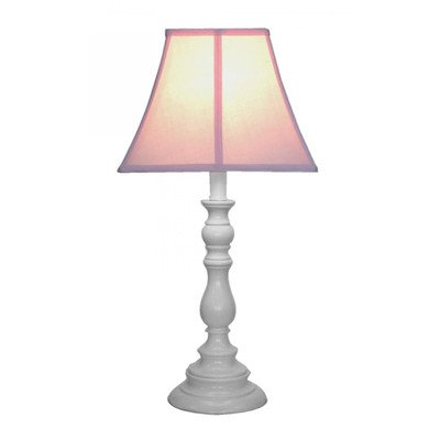Creative Motion White Base Resin Table Lamp, Pink (White Resin Table compare prices)