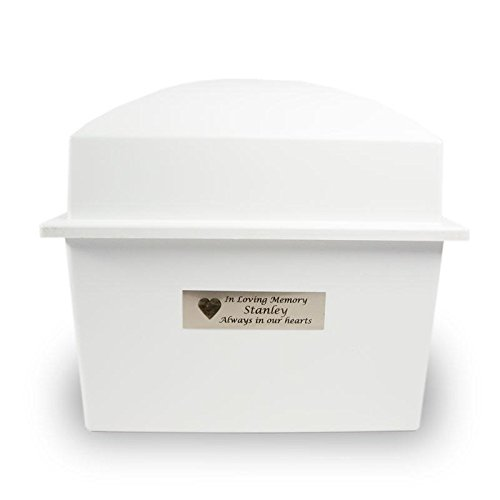 Outdoor Memorial Vault Plastic Urn Vault for Burial- Ideal for Two Urns - White with Engraving Cremation Urn Vault - Custom Engraving Included