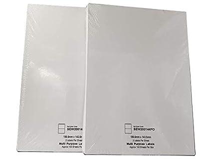 2 Labels, 100 Sheets EJrange Adressetiketten