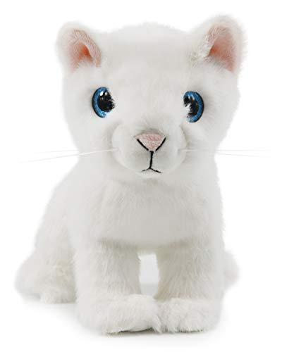Ice King Bear Cute Big Eyes Cat Stuffed Animal Plush Toy 10 Inches (White) ()