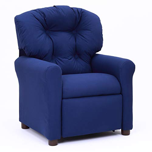 Crew Furniture 991610 Traditional Child Recliner Estate Blue