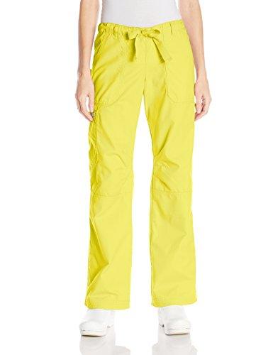 Koi Women's Lindsey Ultra Comfortable Cargo Style Scrub Pants, Canary, - Womens Emporium