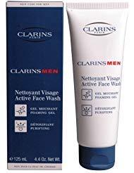 Clarins Men Active Face Wash (Foaming Gel, Purifying) 4.4 oz./125 ml