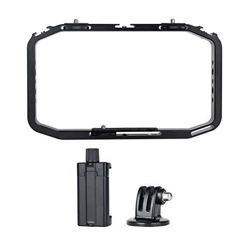 Aluminum Metal DSLR Video Rig Cage for DJI Osmo Action Camera, Sonmer Sport Camera Handheld Smartphone Vlog Stabilizer