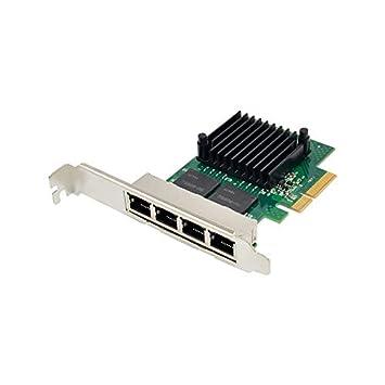 Desconocido Tarjeta de Red 350T4 PCI-E X4 Quad Port 10/100 ...