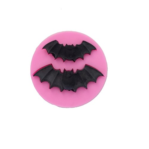 WYD Halloween Decorative Fondant Silicone Mold,Handmade Soap Mold,Cake Mold Decorating,Fondant Baking Mold,Jelly Pudding Mold (Bat Shape)