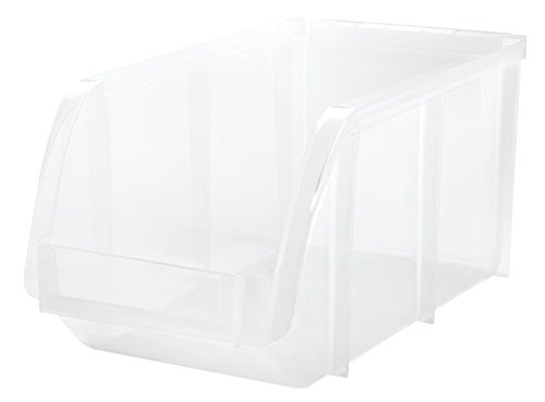 IRIS Medium Stacking Bin, 8 Pack, Clear