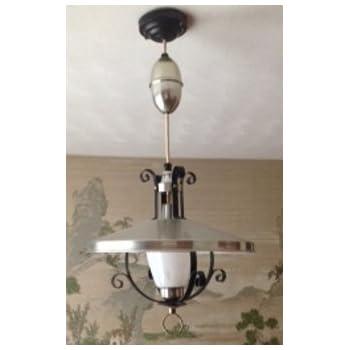 Pull Down Pendant Lamp Light Vintage Retro 1950s 1960s Mid