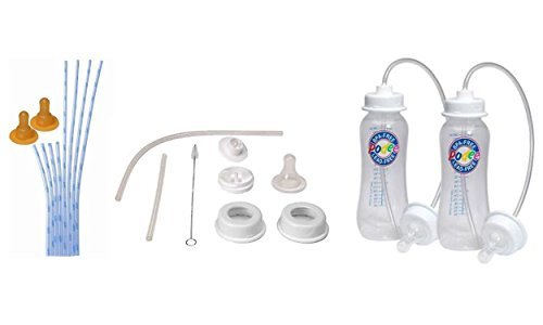 Podee Hands-Free Baby Bottles + Podee Convert a Bottle Kit + Podee Tube and Nipple Replacements