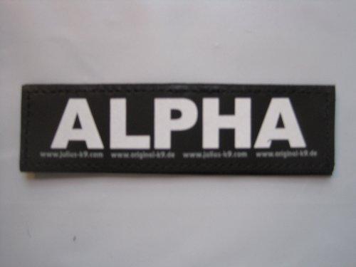 Alpha (Large) Package of 2 Julius-K9 Labels for K9 Harnesses (K9 Alpha)