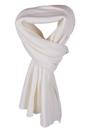 Women's 100% Cashmere Wrap Scarf - White - hand made in Scotland by Love Cashmere RRP $350 by Love Cashmere