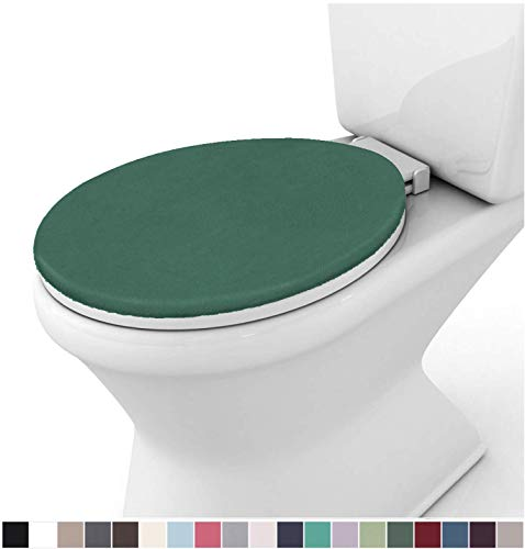 QINGKONG Toilet Seat Cushion Soft Thicken Warmer Zipper Washable Cloth Toilet Seat Cover Pads 1pc Red//Purple//Grey//Coffee