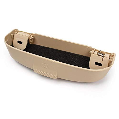 Car Glasses Case for Mitsubishi Pajero V73 Accessories Galant Lioncel ASX RVR Soveran Helpful Car Styling Holder Box Beige