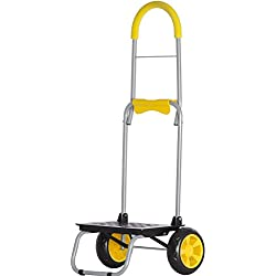 Mighty Max Personal Dolly,Yellow Handtruck Hardware Garden Utilty Cart