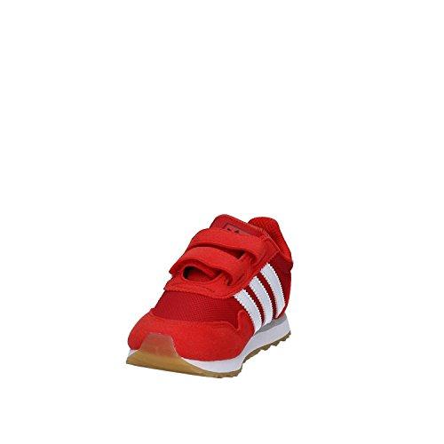 adidas Unisex Baby Haven CF I Lauflernschuhe rot (rot / Ftwbla / Ftwbla)