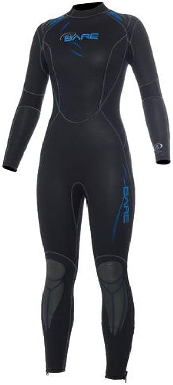 Blue Size 14+ BARE 7mm Women/'s Sport Full Scuba Wetsuit