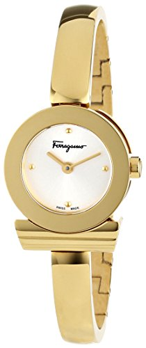dca493edba713 Amazon.com: Salvatore Ferragamo Women's FQ5040013 Gancino Gold Ion-Plated  Stainless Steel Watch: Watches