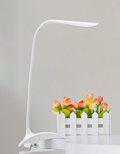 ALISAN Portable Clip Desk Lamp, Built-in 500mAh Rechargea...