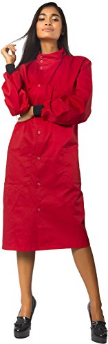 [Dr. Howie Unisex Red Howie Coat with Mandarin Collar M] (Dr Horrible Red Coat Costume)