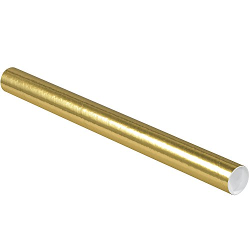 Aviditi P2024GO Spiral Wound Fibreboard Round Mailing Tube with Caps, 2