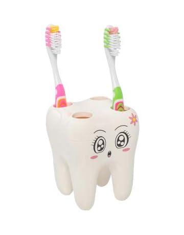 Portacepillos de diente,YTTX Antibacteriano 5 animales cepillo de dientes soporte para cepillos de dientes con tapa con ventosa