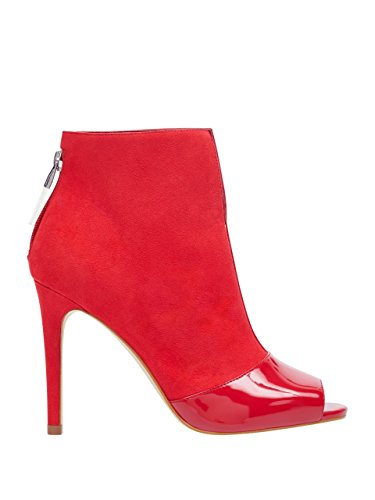 GUESS Womens Funtime Cutout Heel Booties Red Multi YpBzWrX