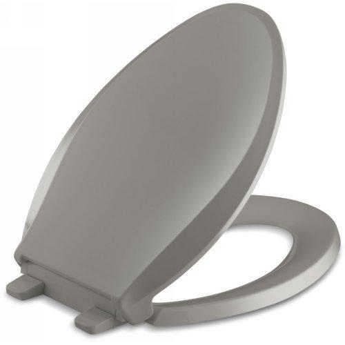Price comparison product image KOHLER K-4636-K4 Cachet Quiet-Close with Grip-Tight Bumpers Elongated Toilet Seat