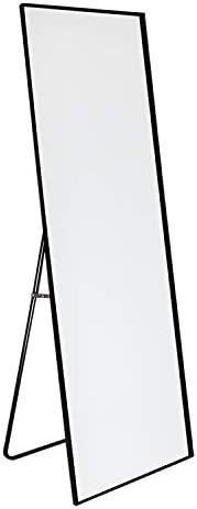 KINGFINE Full Length Floor Mirror Free Standing or Hanging or Leaning Against Wall Mounted Mirror
