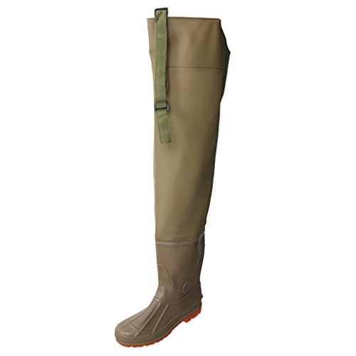 - CUTICATE Men's PVC Waders Hip Boots Bootfoots Hip Fishing Hunting Waders, Color & Size for Choose - Brown, 44