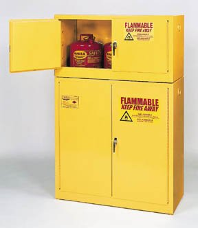 Eagle Flammables Stackable Cabinets: Manual door; 15 ()