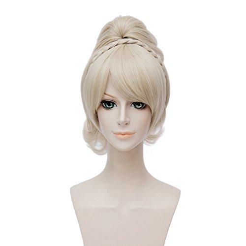Netgo Blonde Cosplay Wigs Heat Resistant Costume Halloween Wigs