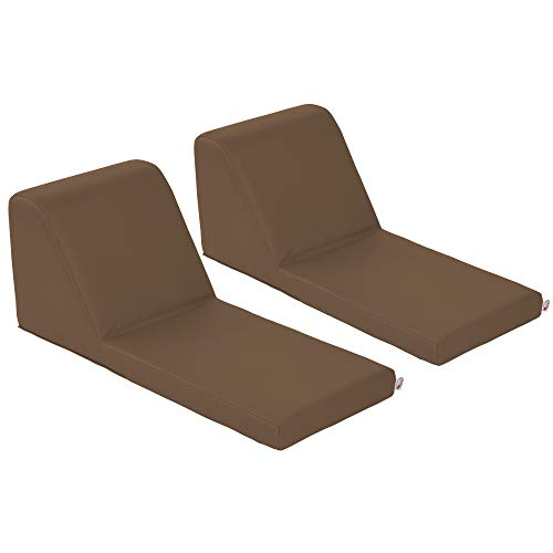 ECR4Kids SoftZone Chaise Lounge Soft Foam Lounger for Kids, Chocolate ()