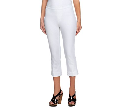 Crop Length Pants (Isaac Mizrahi 24/7 Stretch Pull-On Crop Length Pants Ultra White 18W New A251351)