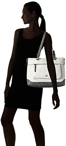 Borsa A Spalla Lhz Shopper Iii Lime Shopper Donna Gerry Weber, Bianco (bianco), 14x28x36 Cm