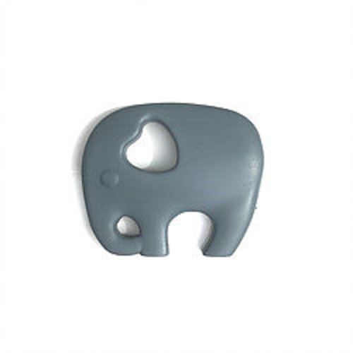 Mama Knows Silicone Elephant Teether -Grey
