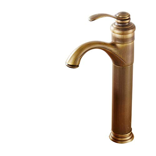 Taps Faucet Copper Antique Faucet Heightening Hot and Cold Copper Basin Above Counter Basin Basin Basin Green Bronze
