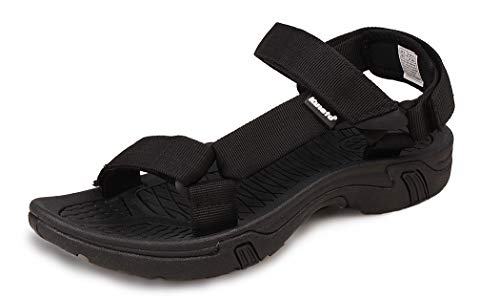 Kunsto Men's Athletic Sport Sandal US Size 8 Black