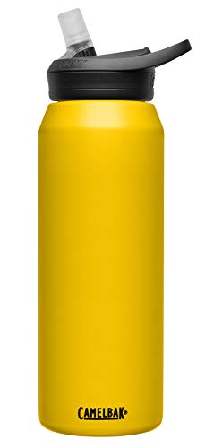CamelBak eddy+ Vacuum Stainless, 32oz, Yellow, Yellow, 32 Oz