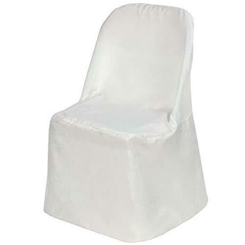 Mikash 折り畳み式ポリエステル椅子カバー ウェディングパーティー 宴会 3色 モデル セール特価 WDDNGDCRTN - 34インチ 20095 ホワイト 安い B07RLHGGRM 37 cl childweddingdecoration-21237 200
