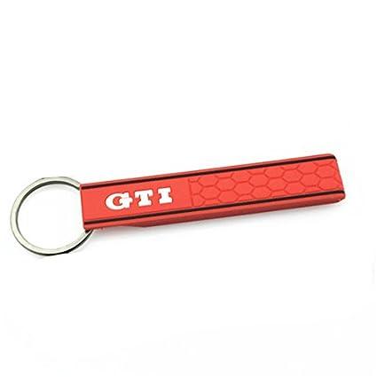 GTIR) LLavero Sport de goma Rojo negro con logo GTI Gran ...