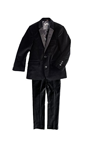 Appaman Kids Baby Boy's Two-Piece Velvet MOD Suit (Toddler/Little Kids/Big Kids) Black Velvet 5 -