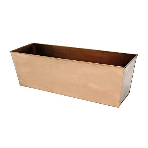 Achla Designs Plain Copper Window Flower Box Planter- Medium (23 1/4 L x 7 3/4 W x 7 1/2 H) (Box Style Planter)