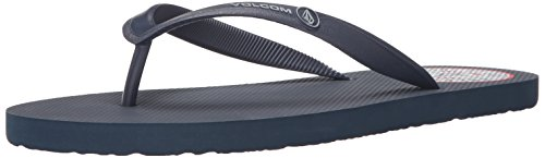 Volcom Men's Rocker Sandal Flip Flop Navy